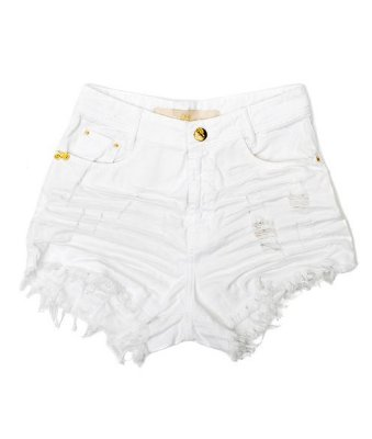Shorts Branco Destroyed Alyn