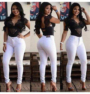 Calça Jeans Hot Pants Branca