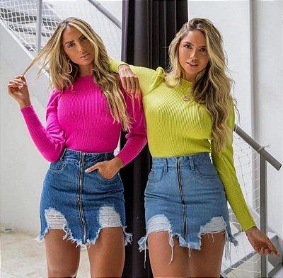 Saia Jeans Verão 2020