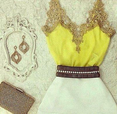 Regata Amarela Guipir Dourado