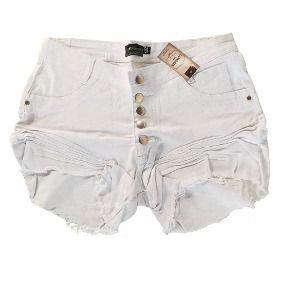 Shorts Branco Destroyed