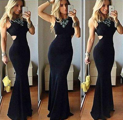 Vestido Longo Sereia Black
