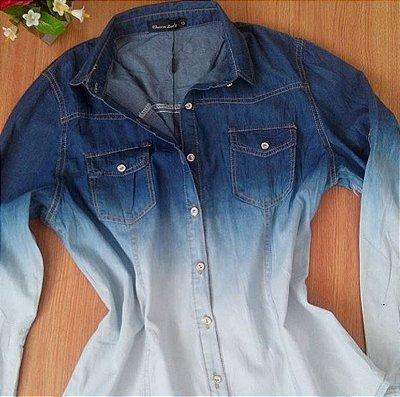 Camisa Jeans Degradê