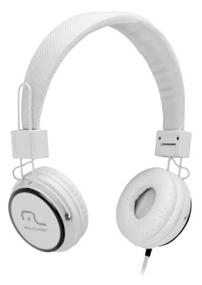 Multilaser Headphone Head Fun com Microfone P2 3,5mm Hi-Fi PH087 Branco