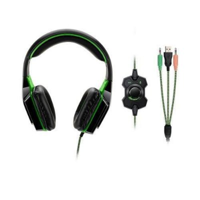 Headset Gamer Dual Shock Led Multilaser Verde - Ph180