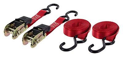 Kit De 2 Cintas Catraca Com Fitas Multilaser 680 Kg De Tensão Au520