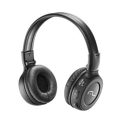 Multilaser Headphone Super Bass com Microfone, Rádio FM e Entrada p/ Cartão de Memória PH111