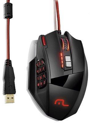 Mouse Gamer Laser 18 botões 4000dpi Preto USB PB1278 Multilaser