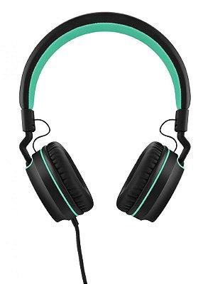 Headphone Pulse On Ear Stereo Preto/Verde