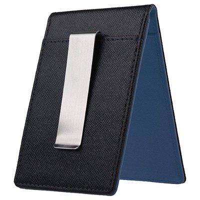 Porta Cartão com Clip Azul Marinho URBANITY - Cod GTU98