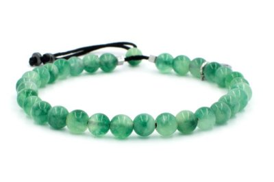 Pulseira Masculina Verde Pedra Natural  SIKEN - Cod P145