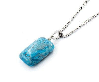 Colar Masculino Aço Inox Pingente Pedra Natural ATIRE - Cod C219