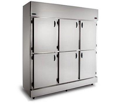 Refrigerador Comercial em Aço Inox 6 Portas RC-6 - Conservex