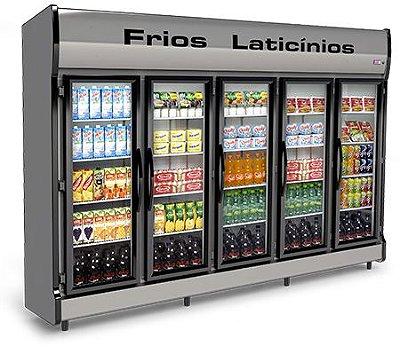 Expositor Refrigerado Vertical de Auto Serviço 5 Portas E AS-5/E Conservex