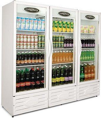 Expositor Refrigerado Vertical 3 Portas ERV-1300 Conservex