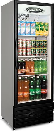 Expositor Refrigerado Vertical Preto ERV-400-P Conservex