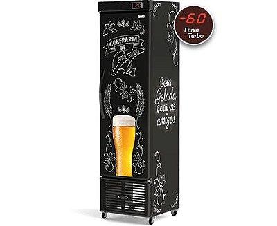 Cervejeira Refrigerada Slim CRV-250/B Lousa de Bar Conservex