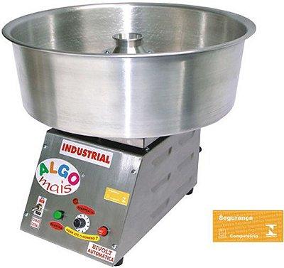 Máquina de Algodão Doce Algo Mais Retangular Inox - Bivolt Automática ademaq