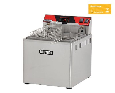 Fritadeira Elétrica de Mesa 8000w Digital Zona Fria FZM8-D Croydon