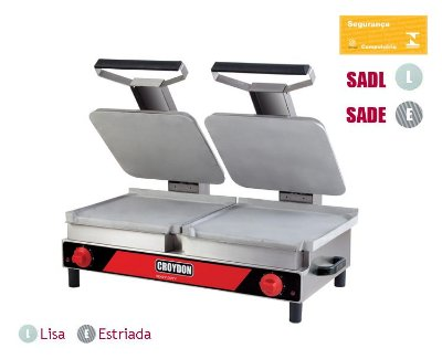 Sanduicheira Elétrica Dupla Chapa Lisa/Estriada SADL-SADE Croydon