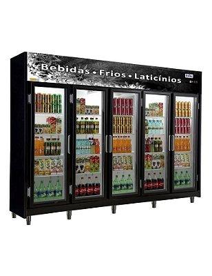 Expositor Refrigerado Vertical - Linha Economic de 5 Portas Frilux