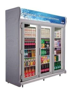 Expositor Refrigerado Vertical - Linha Luxo de 3 Portas Frilux