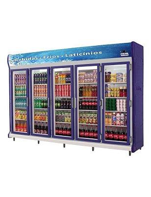 Expositor Refrigerado Vertical - Linha Luxo de 5 Portas Frilux