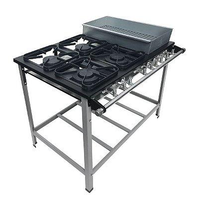 Fogão Industrial a Gás de baixa pressão M22 S2020 BM SEM FORNO - Metal Maq