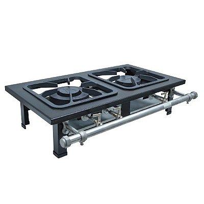Fogão Industrial a Gás de Baixa Pressão M2 S2000 - Metal Maq