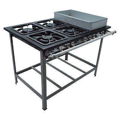 Fogão Industrial a Gás de Baixa Pressão M22 S2000 BM sem Forno - Metal Maq