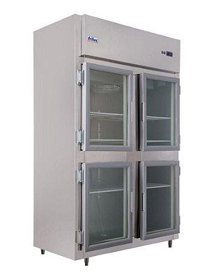 Geladeira Comercial 4 Portas de Vidro em Aço Inox - Frilux