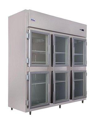 Geladeira Comercial 6 Portas de Vidro em Aço Inox - Frilux