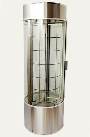 Expositor Refrigerado Giratório Vertical com Iluminação em Led