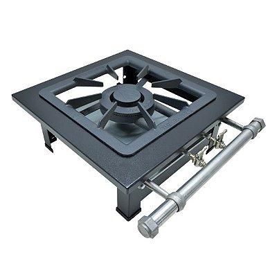 Fogão Industrial a Gás de Baixa Pressão M1 Mesa - Série Luxo 40X40 Metal Maq