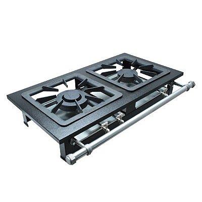 Fogão Industrial a Gás de Baixa Pressão M2 - Série Luxo 40X40 Metal Maq