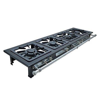 Fogão Industrial a Gás de Baixa Pressão M4 - Série Luxo 40X40 Metal Maq
