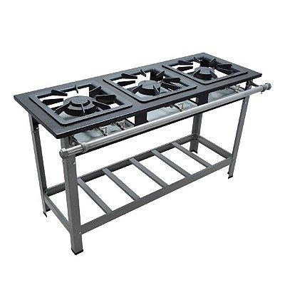 Fogão Industrial a Gás de Baixa Pressão M7 - Série Luxo 40X40 Metal Maq