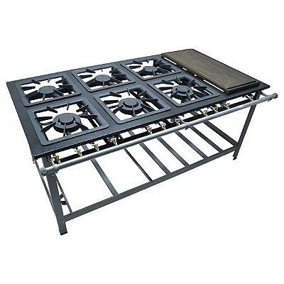 Fogão Industrial a Gás de Baixa Pressão M23 CH Sem Forno  - Série Luxo 40X40 Metal Maq