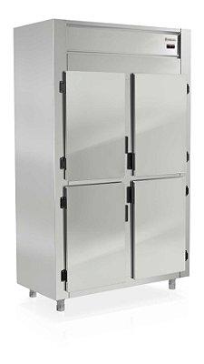 Geladeira Comercial Vertical de 4 Portas em Aço Inox  - GREP-4P Gelopar