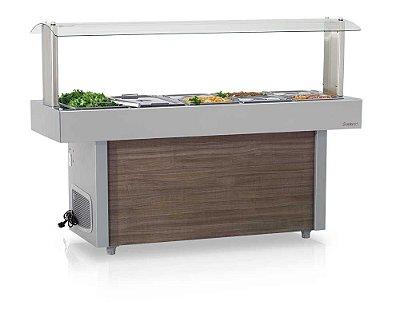 Mesa Refrigerada Linha Buffet Self-Service GMRA-120 - Gelopar