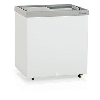 Conservador/Refrigerador Horizontal Plano Vidro Reto Deslizante Dupla Ação - GHDE-220 Gelopar