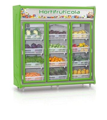 Expositor Vertical Refrigerado Hortifrutícola 4 Níveis de cestos reguláveis e inclinados - GEHF-3PVL Gelopar