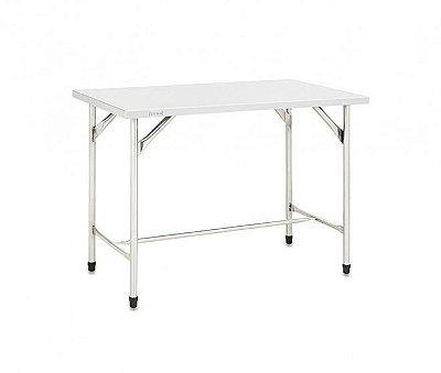 Mesa com estrutura, pés e tampo em inox - Fritomaq