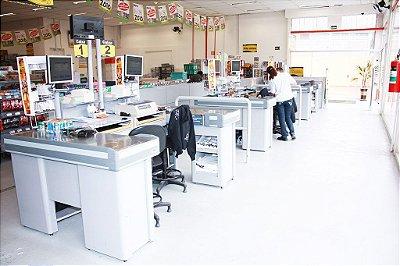Check-out para Automação Comercial ref4 - Cristal Aço