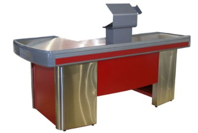 Check-out para Automação Comercial ref: inox-vermelho - Cristal Aço