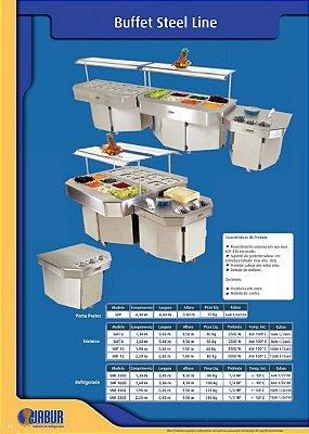 Buffet Porta Pratos, Refrigerada ou Térmica da Linha Steel Line - Jabur