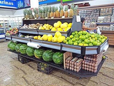 Expositor para Frutas e Alimentos Art-Market ref: art2.1 - Cristal Aço