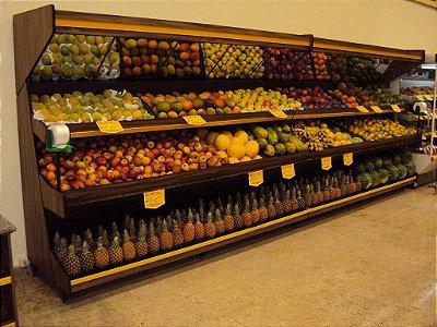 Expositor para Frutas e Alimentos ref: art2 - Cristal Aço