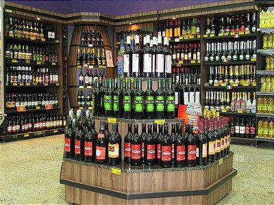 Expositor de Centro para Bebidas ref: art11 - Cristal Aço