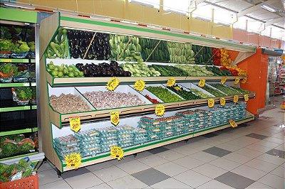 Expositor para Vegetais e Alimentos Art-Market ref: art17 - Cristal Aço